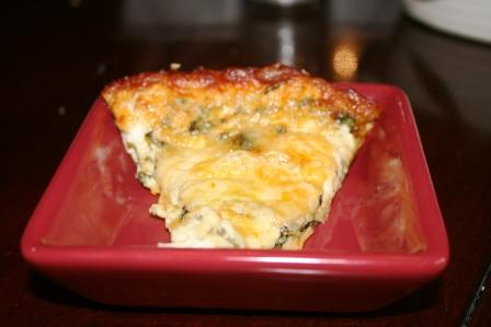 Lucy's Muenster Cheese & Spinach Quiche - Frankly Entertaining