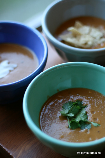 Avocado tortilla soup frankly entertaining ive talked before about my love affair with my vita mix usually i stick to some tried and true recipes but i pulled out the recipe book the other day forumfinder Choice Image