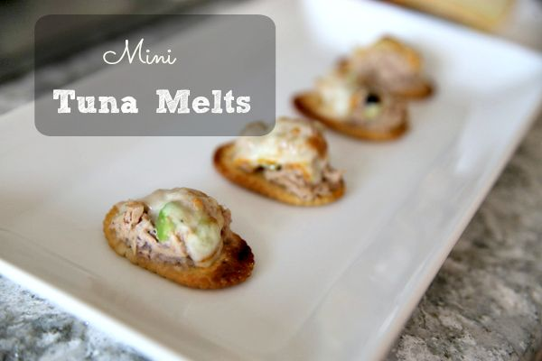 Mini Tuna Melts|Frankly Entertaining