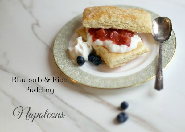 Rice Pudding & Rhubarb Napoleons|Frankly Entertaining