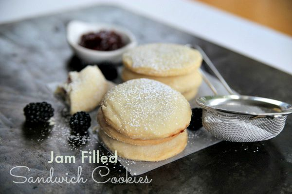 Jam Filled Sandwich Cookies|Frankly Entertaining