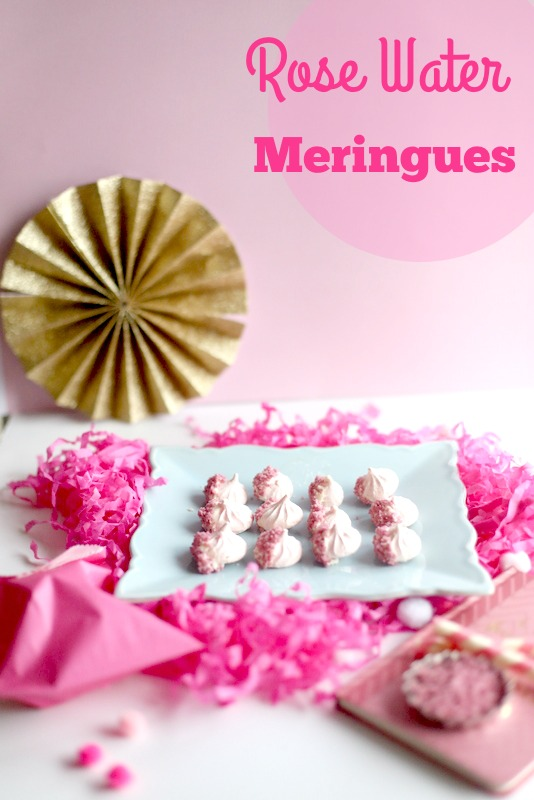 Rose Water Meringues||Frankly Entertaining