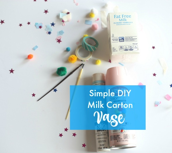 DIY Milk Carton Vase|Frankly Entertaining