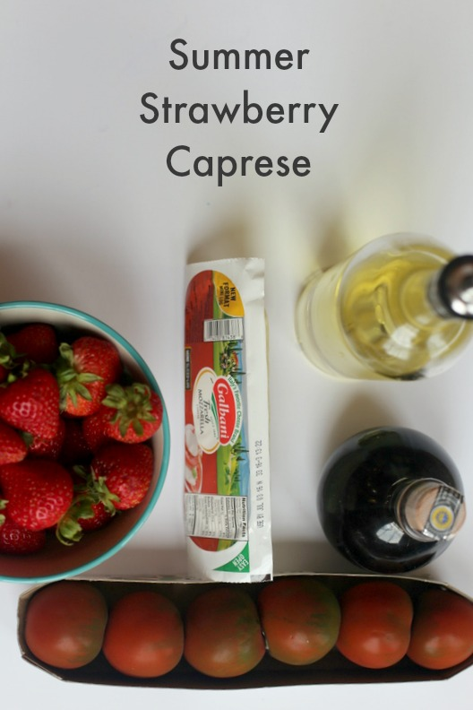 Summer Strawberry Caprese|Frankly Entertaining