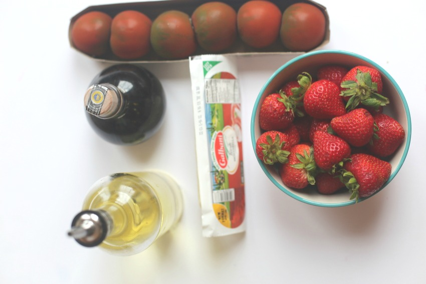 Strawberry Caprese |Frankly Entertaining